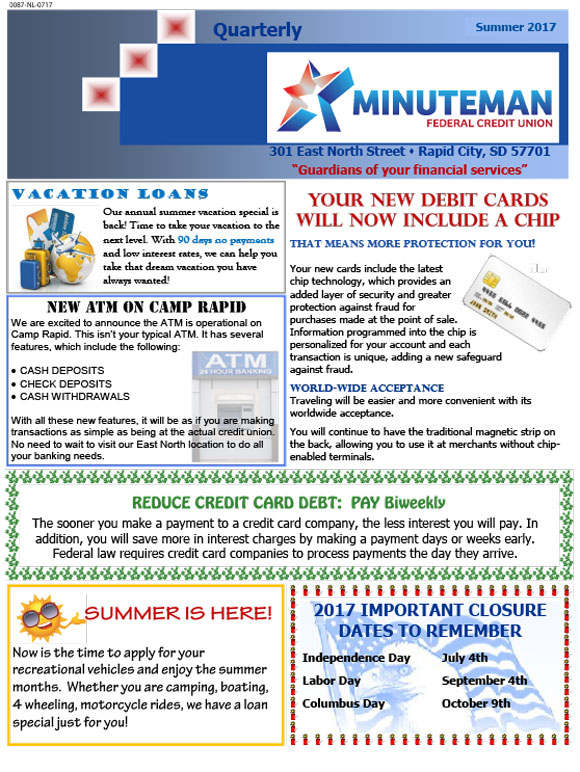 Minuteman Federal Credit Union Summer 2017